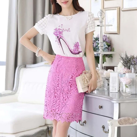 Lacey Flower Skirt