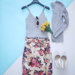 Greta Singlet with Cardigan