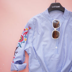 Edlyn Floral Embroidered Shirt