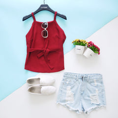 Kendra Singlet Top with Belt