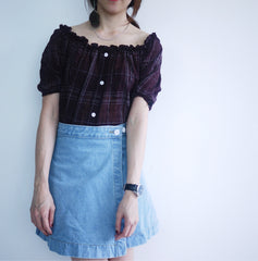 Denim Flip Over Skirt