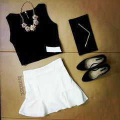 Two tone Cropped Top