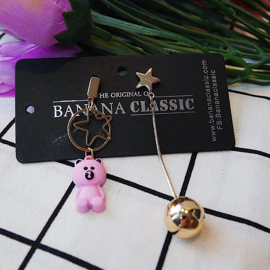 The Starry Bear & Ball Earrings
