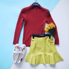Knitted High Neck Top