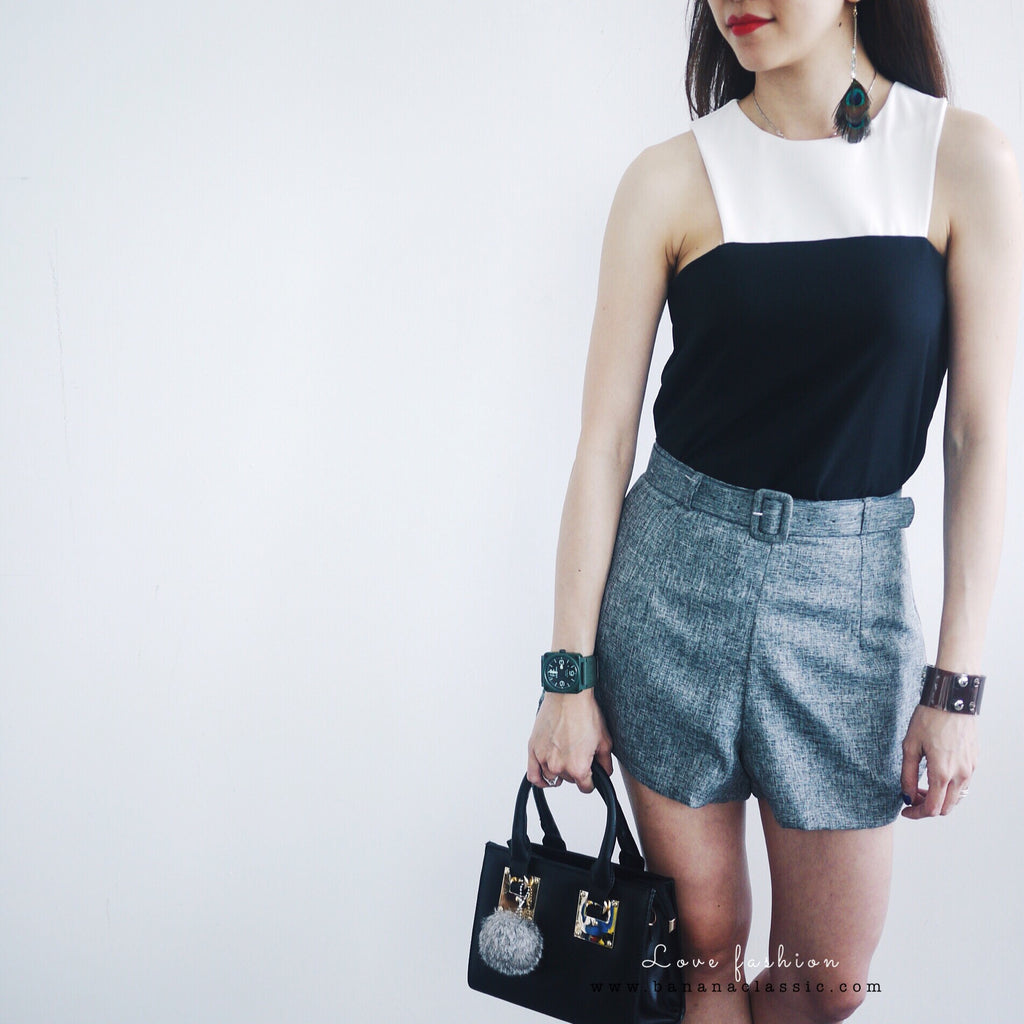 Short Pant with Belt