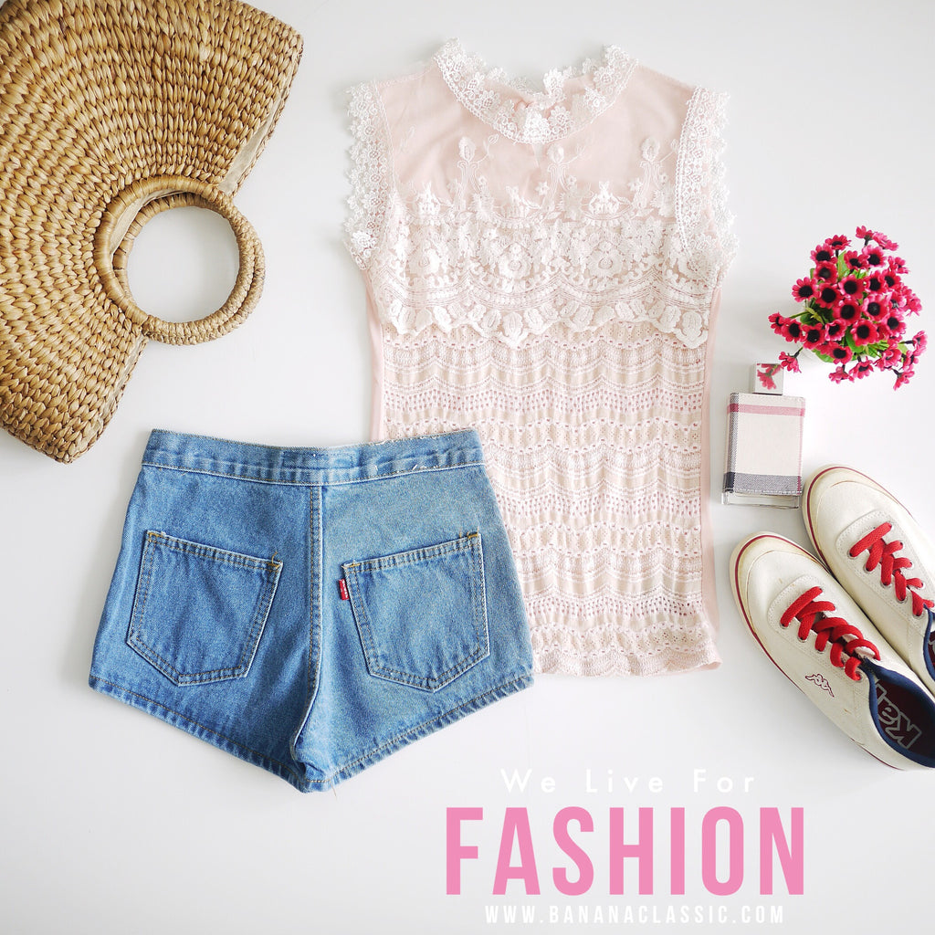 Sleeveless Flower Lace Top