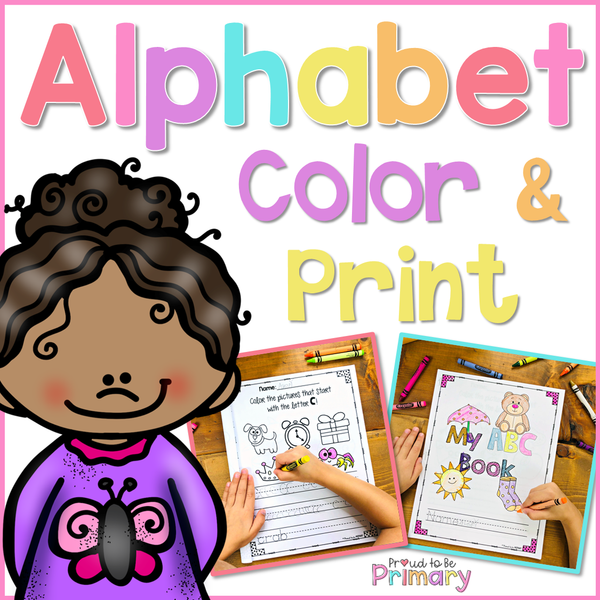 Alphabet Coloring Book - Proud to be Primary