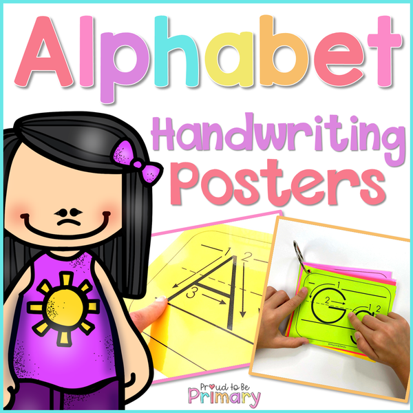 Alphabet Handwriting Posters - Proud to be Primary