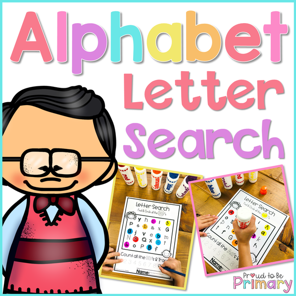Alphabet Letter Search - Proud to be Primary