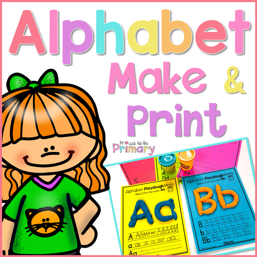 Alphabet Playdough Mats - Proud to be Primary