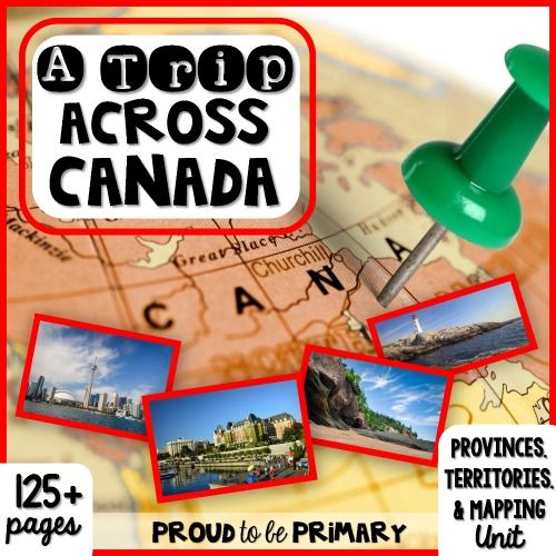 Canada {Provinces, Territories, & Mapping} Unit - Proud to be Primary