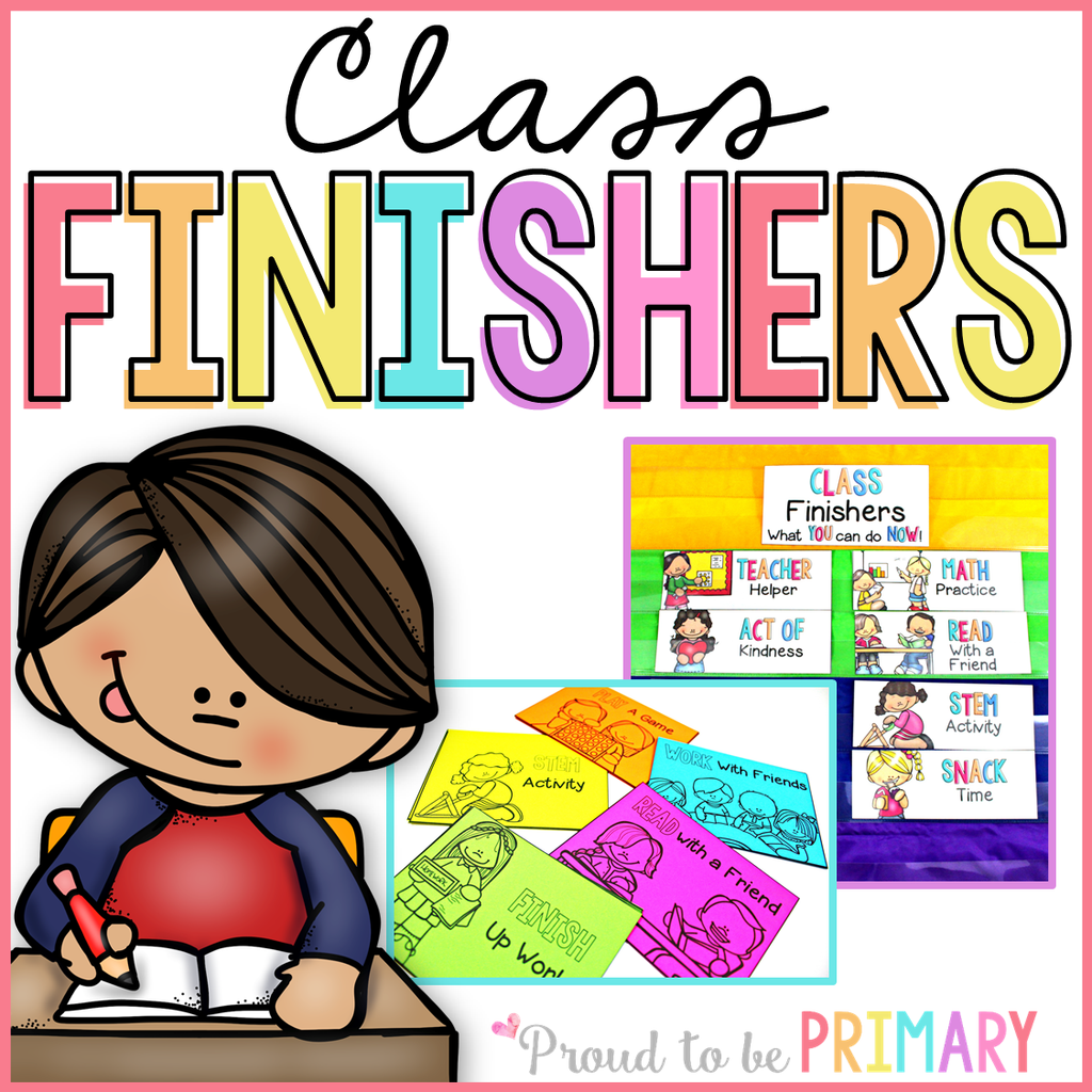 Class Fast Finisher Activity Cards EDITABLE - Proud to be Primary