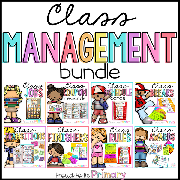 Classroom Management Bundle: Class Jobs, Coupons, Transitions, Brain Breaks + - Proud to be Primary