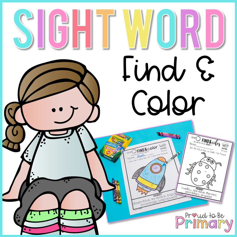 Dolch Sight Words - Find & Color - Proud to be Primary