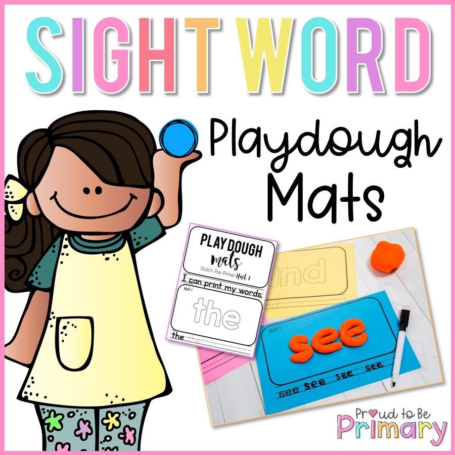Dolch Sight Words Dough Mats - Proud to be Primary