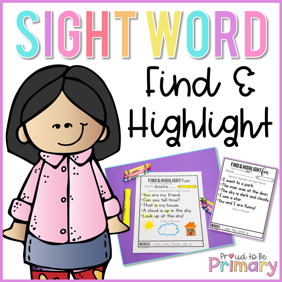Dolch Sight Words Find and Highlight - Proud to be Primary