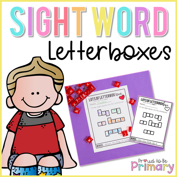 Dolch Sight Words Letterboxes - Proud to be Primary