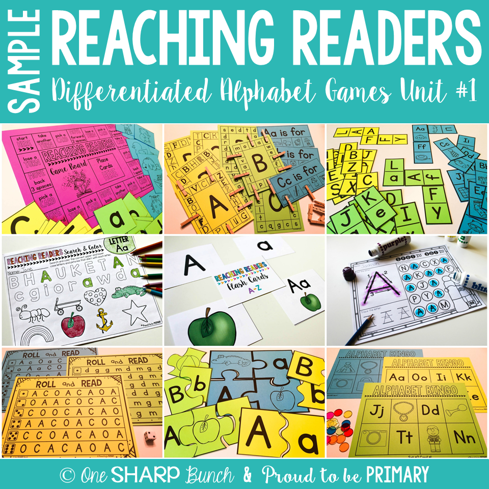 Guided Reading Alphabet Games - Proud to be Primary