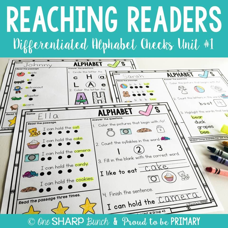 Guided Reading Comprehension Alphabet Checks - Proud to be Primary