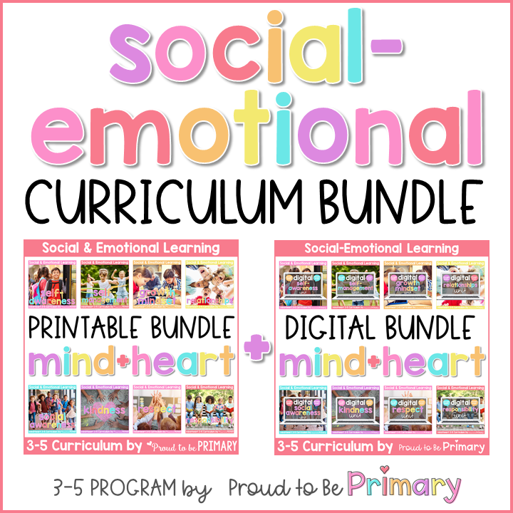 Social Emotional Learning Curriculum for Grades 3-5 - PRINTABLE & DIGITAL BUNDLE