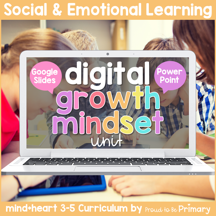 Growth Mindset & SMART Goals DIGITAL Grades 3-5 Google & PowerPoint Activities