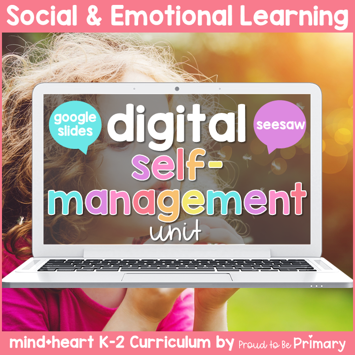 Self-Regulation DIGITAL K-2 Social Emotional Learning - Google & Seesaw Activities