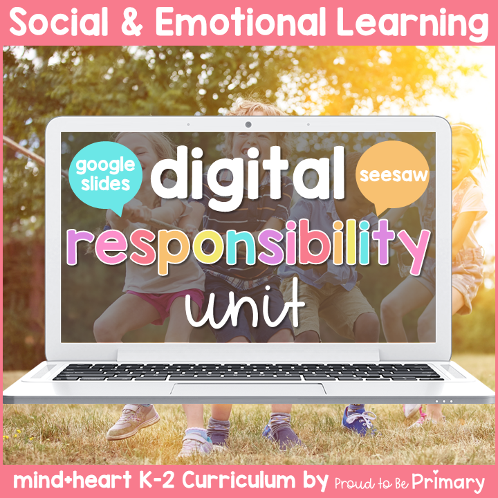Responsibility, Goal Setting, & Bullying DIGITAL K-2 Social Emotional Learning - Google & Seesaw Activities