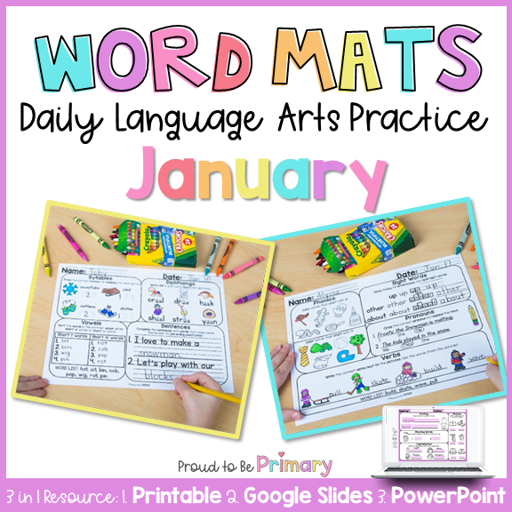 January Word Work