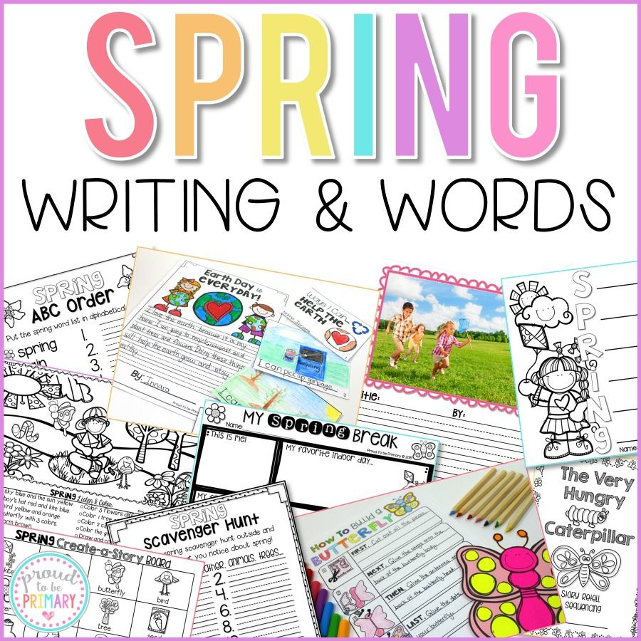 Spring Writing and Word Work Activities - Proud to be Primary