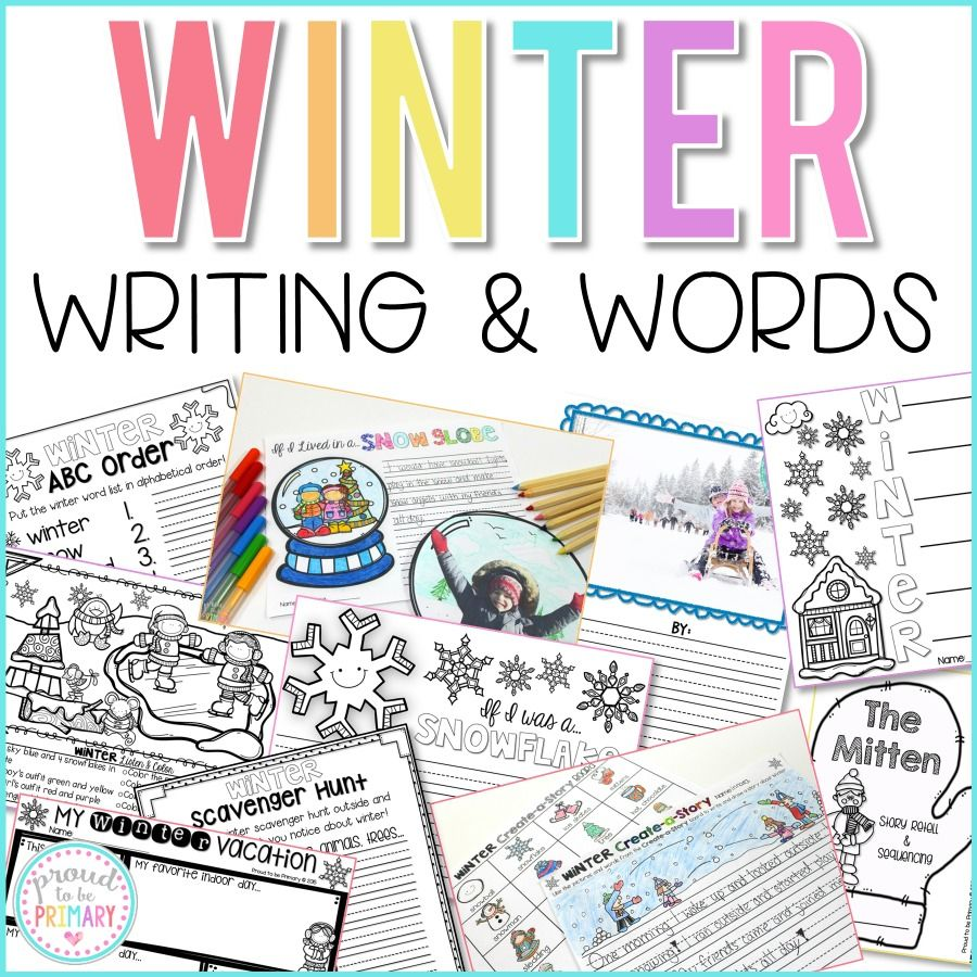 Winter Writing and Word Work Activities - Proud to be Primary