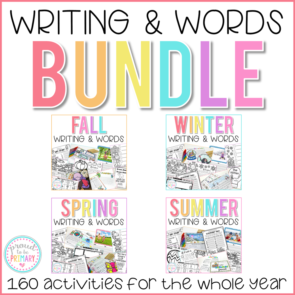 Writing and Word Work Activities Bundle - Proud to be Primary