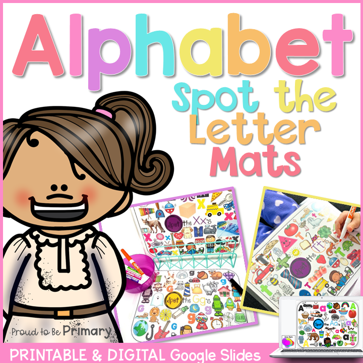 Alphabet Spot the Letter Mats Posters & Google Slides