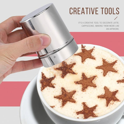 16Pcs Barista Latte Stencils with Shaker - Home & Kitchen Gear