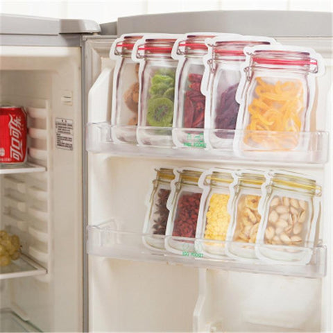 Image of Mason Jar Zip Closure Storage Bags - Home & Kitchen Gear
