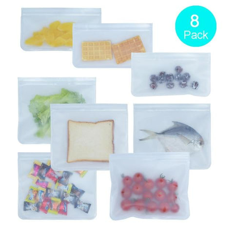 Image of Reusable Silicone Food Storage Bags - Home & Kitchen Gear