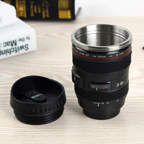 Lifelike Camera Lens Travel Mug - Home & Kitchen Gear