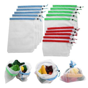 Reusable Mesh Produce Bags - Home & Kitchen Gear