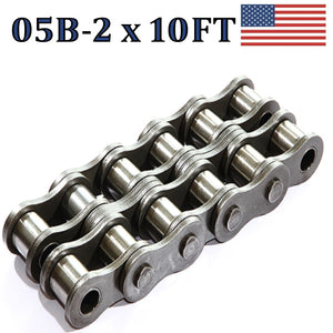 05B-2 Double Strand Roller Chain 3.05 Meters / 10 FT With Free Connecting Link