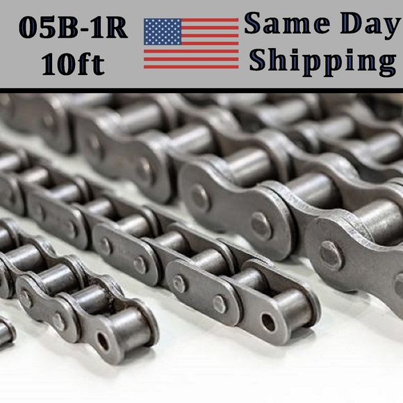 05B-1R Roller Chain METRIC 3.05 Meters / 10 FT With Free Connecting Link