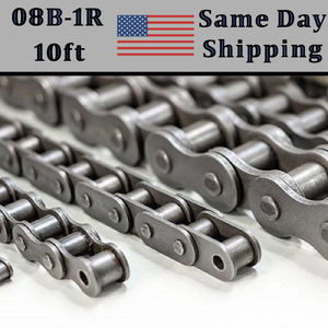 08B-1R Roller Chain 10 FT Metric - Same Day Priority Shipping -