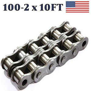 100-2 DOUBLE STRAND ROLLER CHAIN 10FT