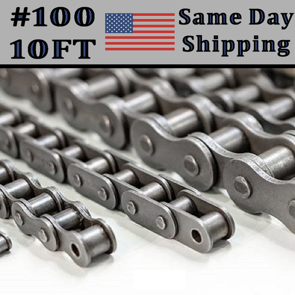 #100 Single Strand Roller Chain 10FT