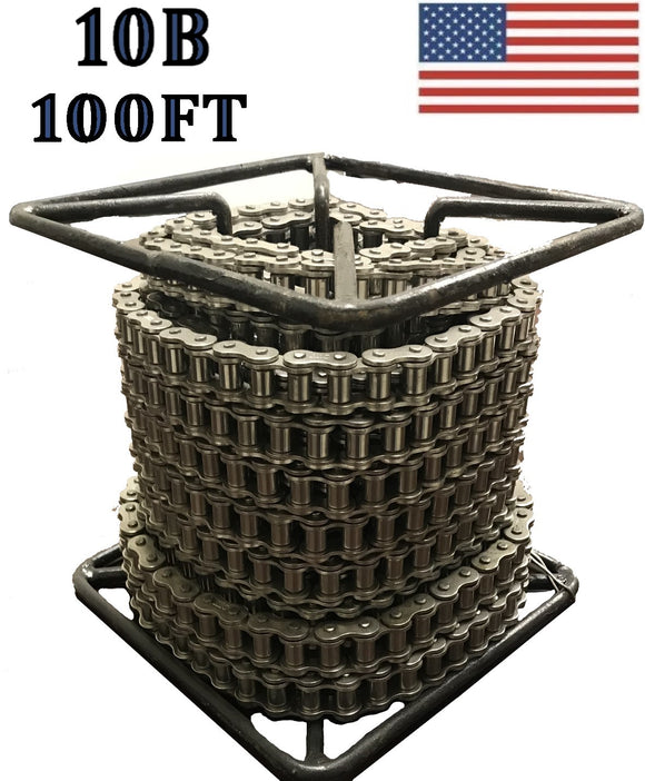 10B-1R Roller Chain 100 FT REEL Metric Same Day Shipping