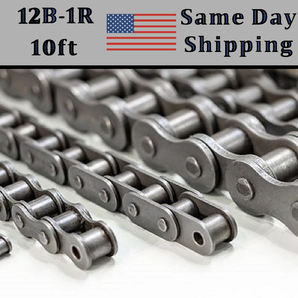 12B-1 Roller Chain 10 FT Metric Same Day Priority Shipping