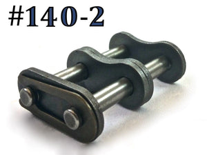#140-2 DOUBLE ROLLER DUPLEX CHAIN MASTER CONNECTING LINK *PACK OF 2*