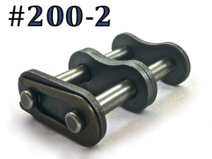#200-2 DOUBLE ROLLER DUPLEX CHAIN MASTER CONNECTING LINK *PACK OF 2*