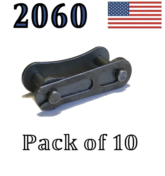 A2060 Connecting Link (10 pack) 2060 Conveyor roller chain 1 1/2
