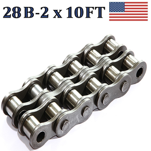 28B-2 Double Strand Roller Chain 3.05 Meters / 10 FT With Free Connecting Link