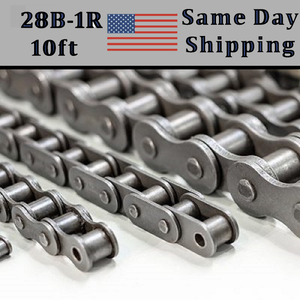 28B-1 Roller Chain METRIC 3.05 Meters / 10 FT With Free Connecting Link
