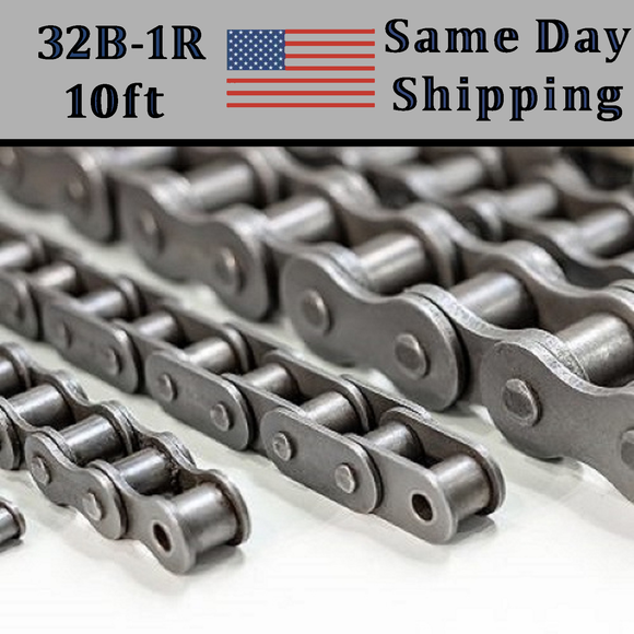 32B-1 Roller Chain METRIC 3.05 Meters / 10 FT With Free Connecting Link